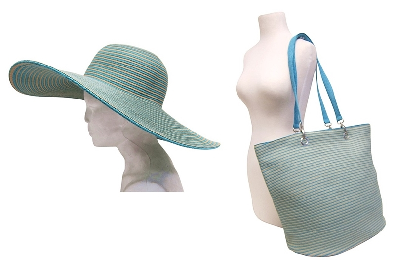 wholsale floppy hats matching bag
