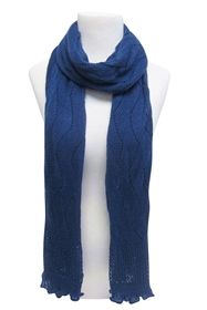 wholesale winter scarves blue